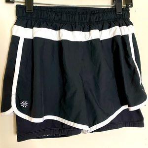 Athleta black and white active shorts sz small